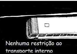 """Desenho de um ônibus com e abaixo o texto """"Nenhuma restrição ao transporte interno"""""""