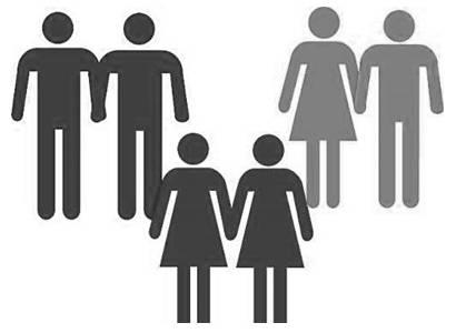 Desenho de casais LGBT