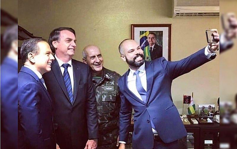 Foto de Covas, Dória, Bolsonaro e militar Eduardo Ramos